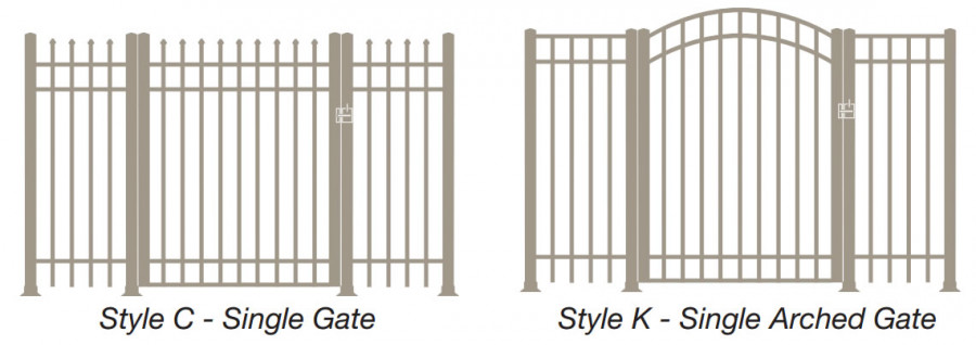 Single Gate & Single Arched Gate