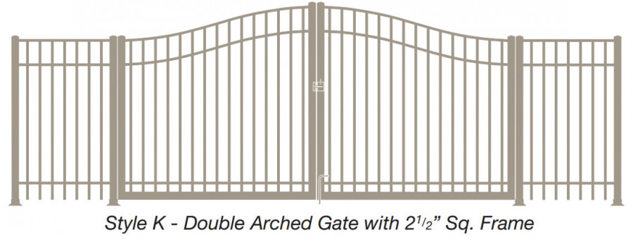 Style K - Double Arched Gate with 2 1/2