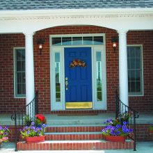 Fiberglass porch columns hold strong against a porch overhang