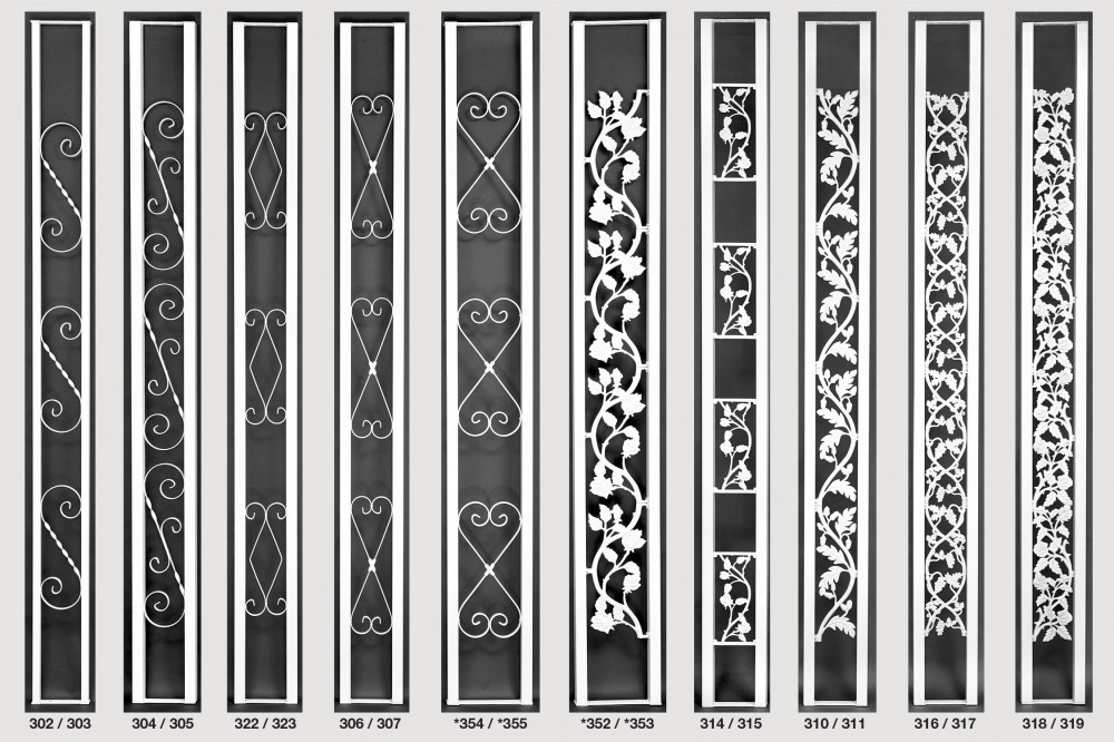 A sample of the multiple available styles of decorative aluminum columns
