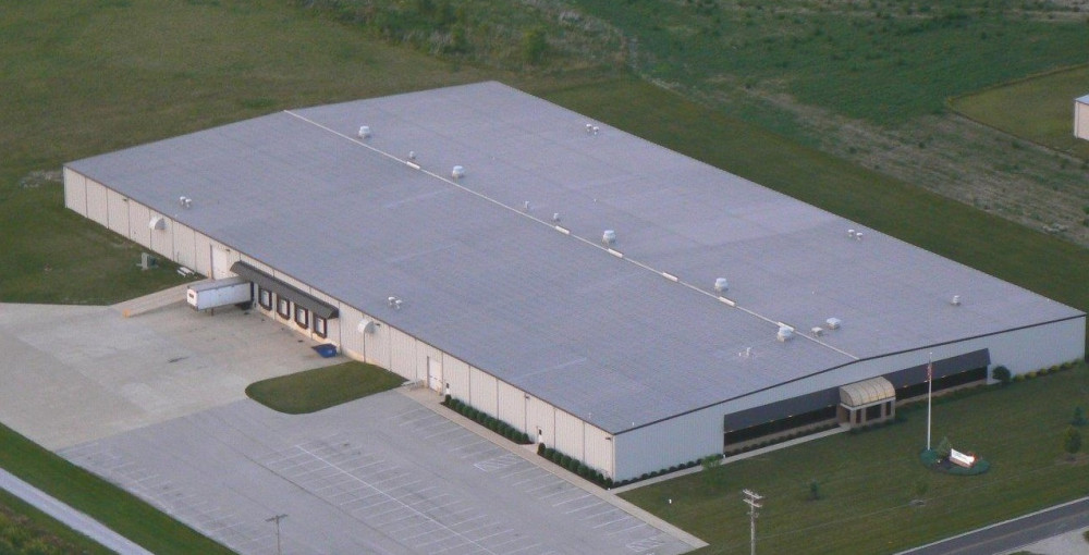 An aerial view of the Superior Aluminum manufacturing facility
