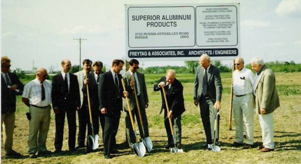 Ground being broken for the current Superior Aluminum manufacturing facility
