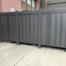 Privacy railing stops sightlines to unsightly equipment